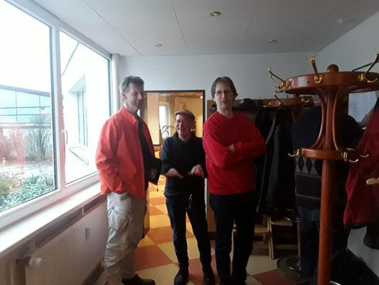 ... gut gelaunt ... Guido, Pietro und Daniel
