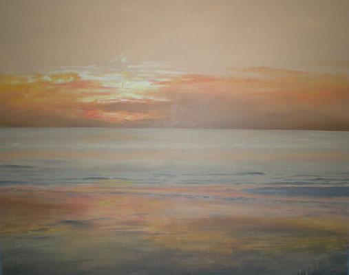 Sonnenuntergang an der Nordsee 80 x 100 / ----CHF 1'850----