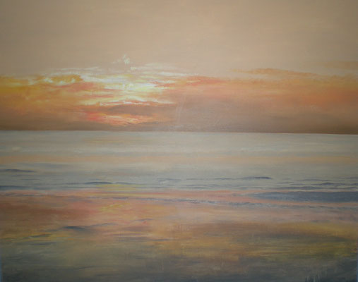 Sonnenuntergang an der Nordsee 80 x 100 / ----CHF 1'450----