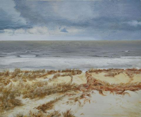 Dünen-Nordsee 50 x 60 / Eingerahmt /----CHF 1'250----