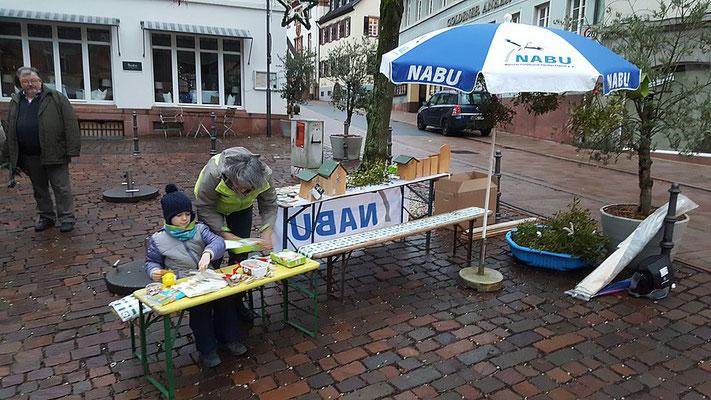 Basteiarbeiten, Mistelzwige, Vogelhäuschen u.v.m. wurden von den Kindern angeboten. Foto: A. Pedal