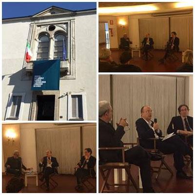 Presentazione di Global a Milano presso il Museo della Scienza e della Tecnologia con Fiorenzo Galli, presidente del Museo, Enzo Argante, giornalista e Agostino Santoni di Cisco