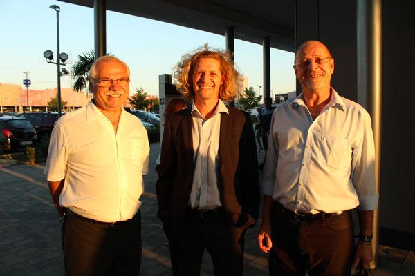 Bürgermeister Kovacs, Vizebürgermeister Huszer, Parndorf & Egger Martin