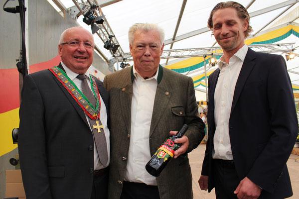 Golser Bürgermeister Hans Schrammel ein Ehrengast und Martin Egger