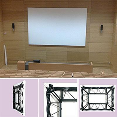 Full Screen - randlose Projektionswand mit festem Rahmen - Projecta