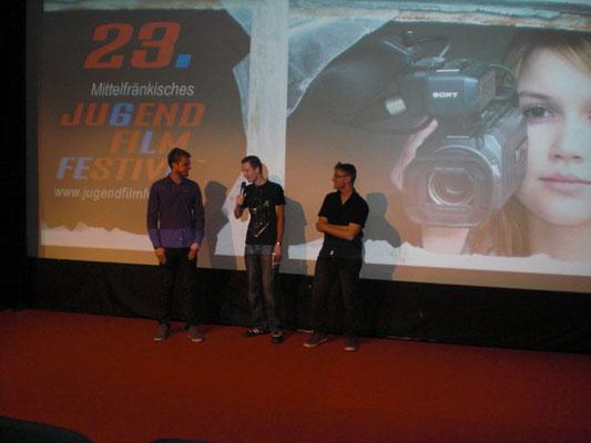 """2011: Unser Kurzfilm """"Goldrake"""" beim Mittelfränkischen Jugendfilmfestival im Cinecitta' Nürnberg."""
