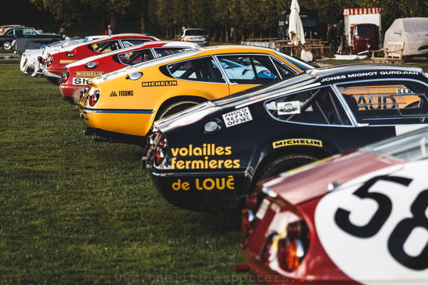 Les Ferrari 365 GTB/4 Daytona Groupe IV - Chantilly 2017
