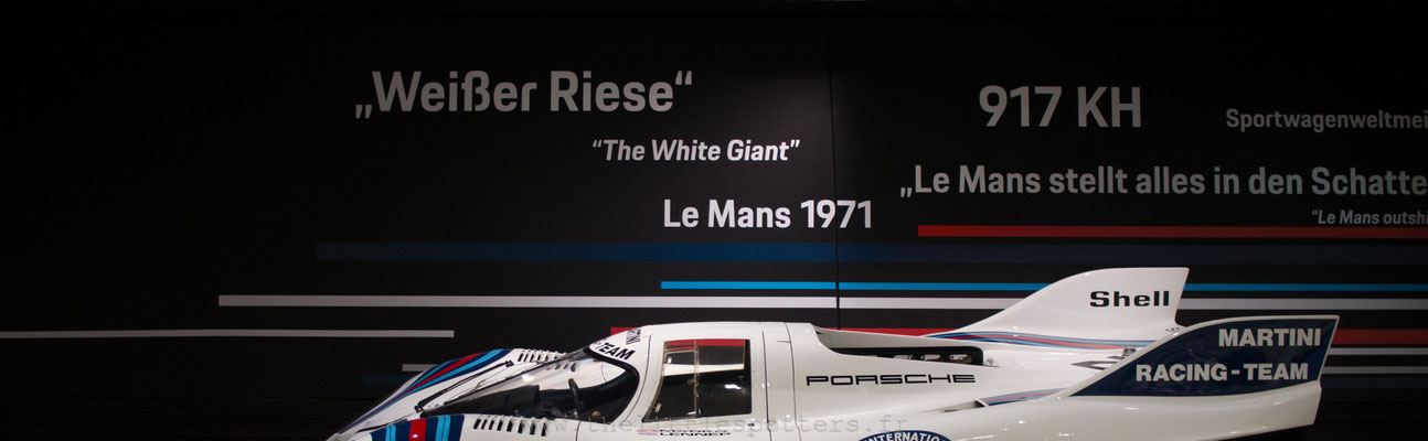 Porsche 917 053, 1ere Le Mans 1971, Musée Porsche - Exposition Colours of Speed, 50 Jahre Porsche 917
