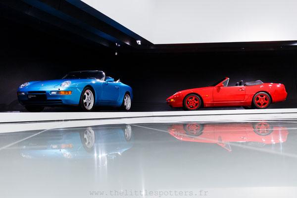 Porsche 968 Roadster Concept Study & Porsche 968 Cabriolet, Musée Porsche - Exposition Colours of Speed, 50 Jahre Porsche 917