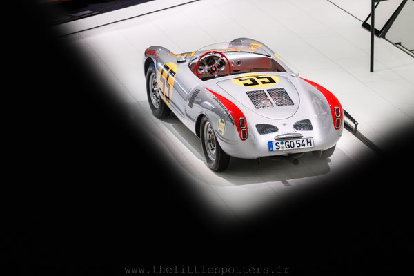 Porsche 550 Spyder, Musée Porsche - Exposition Colours of Speed, 50 Jahre Porsche 917