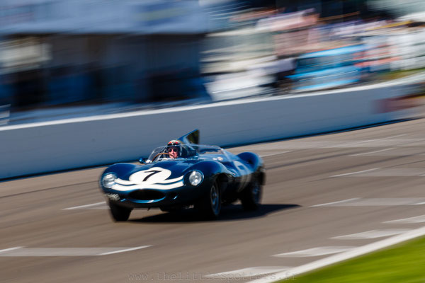 Sir Jackie Stewart, Jaguar D-Type 'long nose', 1959 RAC TT Celebration - Goodwood Revival 2019