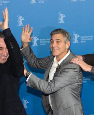 Jean Dujardin, George Clooney THE MONUMENTS MEN