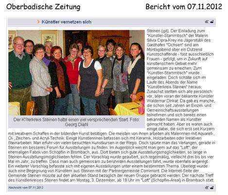 Oberbadische Zeitung (07.11.2012)