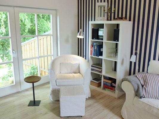 Ferienwohnung an der Schlei Obergeschoss Wohn & Essbereich