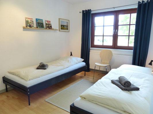 Ferienwohnung an der Schlei Obergeschoss Schlafbereich