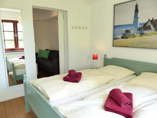 Ferienwohnung an der Schlei Erdgeschoss Schlafzimmer