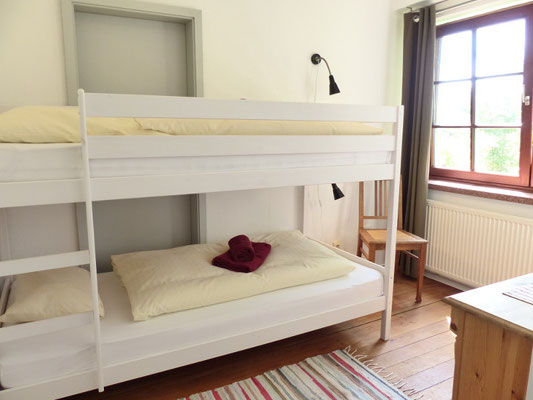 Ferienwohnung an der Schlei Erdgeschoss Kinderschlafzimmer