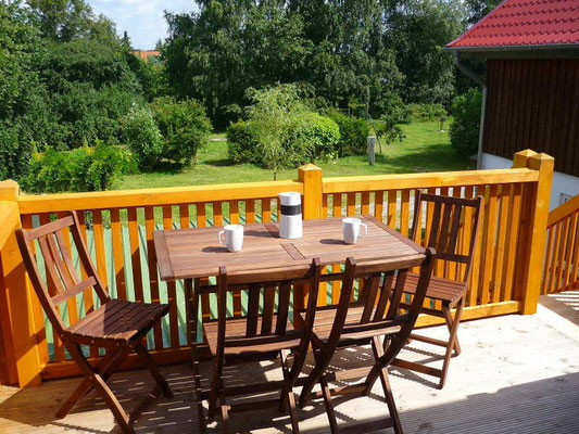 Ferienwohnung an der Schlei Obergeschoss Balkon
