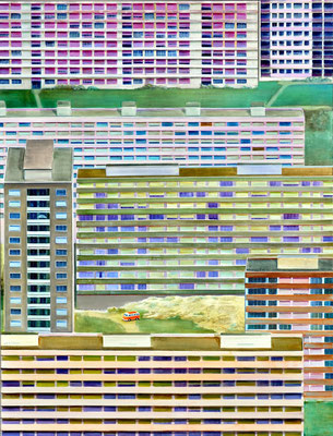 Kleine Fluchten, 170 x 130 cm, Oil on canvas, 2008