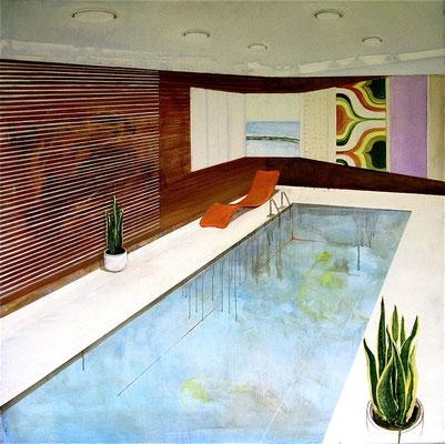 70ties room, 100 x 100 cm, Oil on canvas, 2003