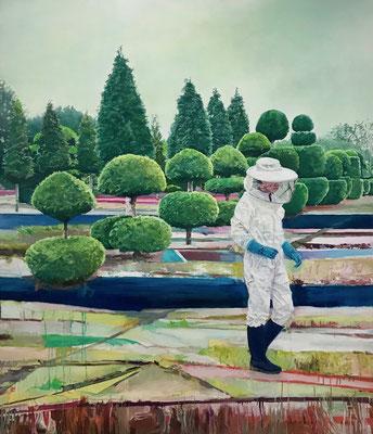 Land(wirt)schaft, 140 x 120 cm, Oil on canvas, 2019