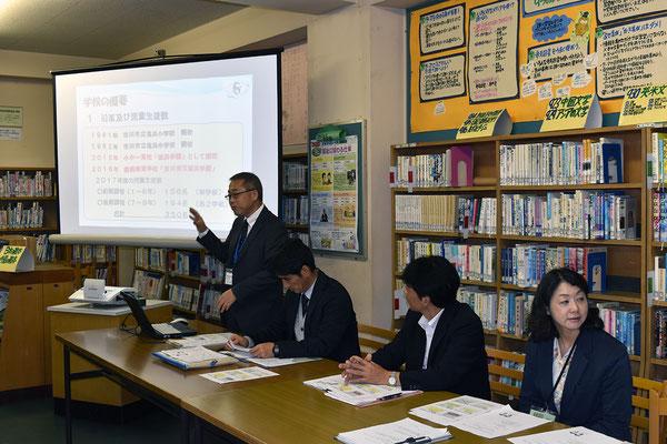 学校長および市川市教育委員会からの取り組み報告