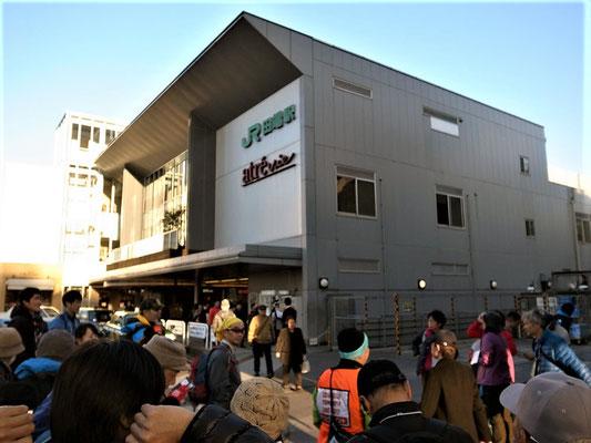 田端駅に到着。すっごく疲れた。