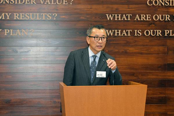 大成建設株式会社吉成泰取締役常務執行役員(健康都市活動支援機構理事)