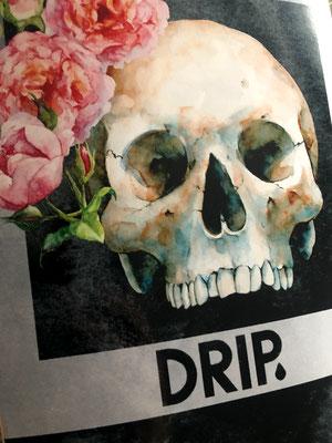 Drip Skateboards - Rose Skull Deck