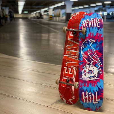 Revive Spring 2020 Decks - Ultimate Red Lifeline & John Hill Pro Tie Dye Deck