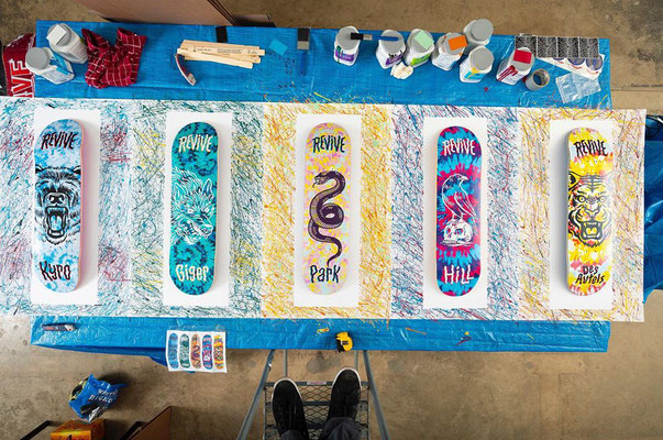 Behind the scenes of the Spring 2020 Pro TieDye Revive Decks