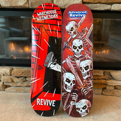 Revive Skateboards Summer 2020 Decks - Warehouse Wednesday & Jonny Giger Skeletons Deck