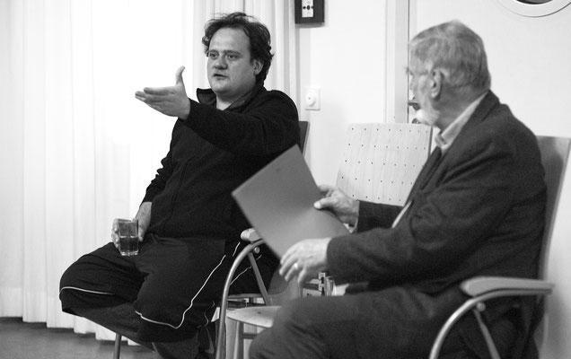 Samouil Stoyanov, Förderpreisträger 2018, zu Besuch beim Förderverein. Foto: Hans Kopp