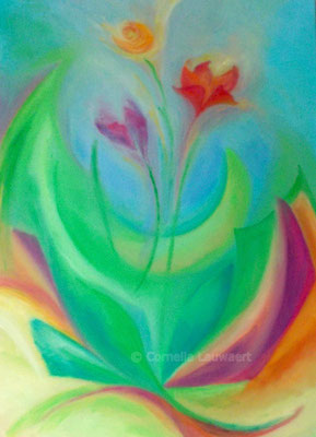 Blumenbild Abstrakt
