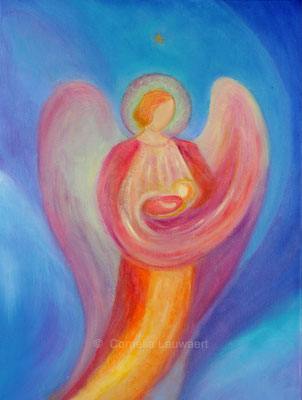 Engel mit Kind auf dem Arm