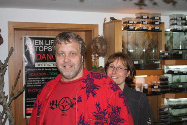 Achim Graminske (Deutschland) mit seiner lieben Frau Brigitte.