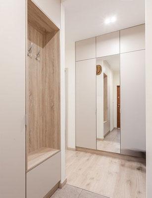 entrée vestiaire bois meuble rangement espace intérieurs pinterest