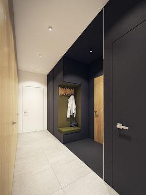 aménagement intérieur entrée appartement maison