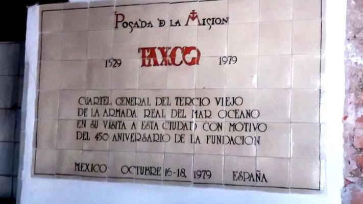 Mosaico conmemorativo en Posada de la Misión