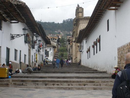 Escalera de acceso al Conjunto de Belen en Cajamarca