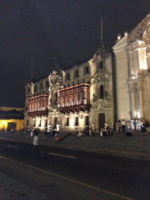 Casco Historico de Lima iluminado