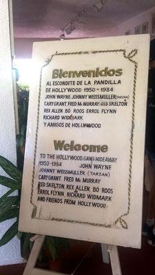 Cartel recordando Fiestas de actores en Hotel Flamingo de Acapulco