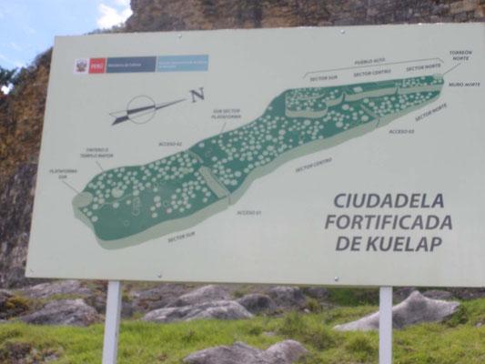 Planta de la Fortaleza de kuelap