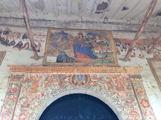 Pinturas en Iglesia de Ntra. Sra. de Montserrat de Chinchero
