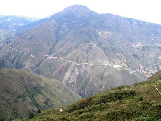 Carretera de acceso a Kuelap