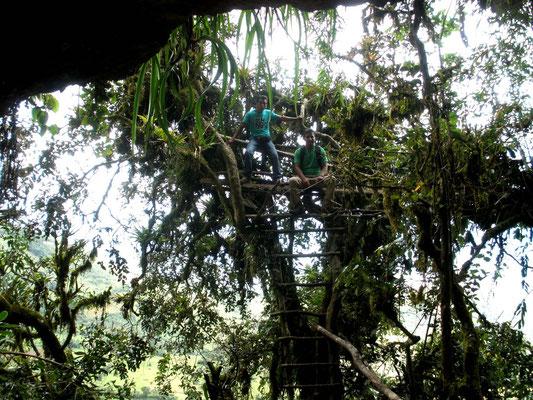 Rudimentario andamio del Cerro del Tigre