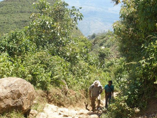 Caminando hacia el Cerro del Tigre