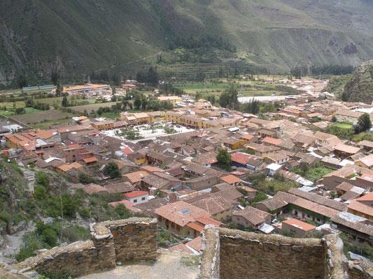 Ollantaytambo desde montaña