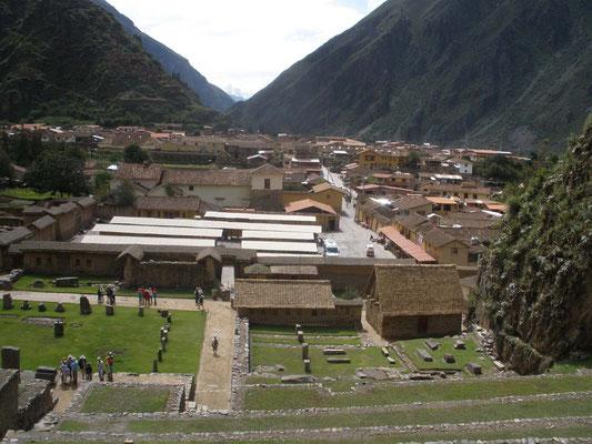 Ollantaytambo desde el parque arqueologico