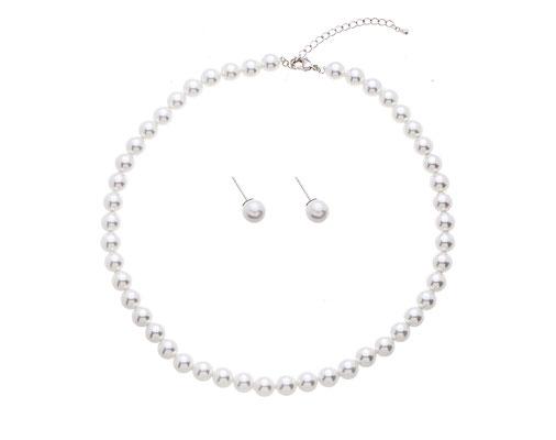 Brautschmuck Set - Ohrringe Kette mit Perlen - Sancarda Hochzeitsmode Coburg